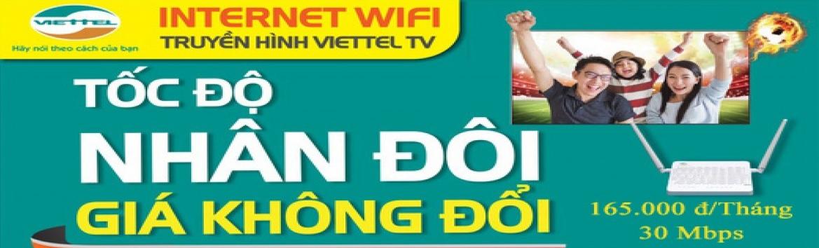 Internet Wifi Viettel khuyễn mãi