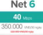 Gói cước cáp quang FTTH Net 6 - 40Mbps
