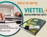 Đăng ký chữ ký số Viettel tại Bình Long Viettel C-A